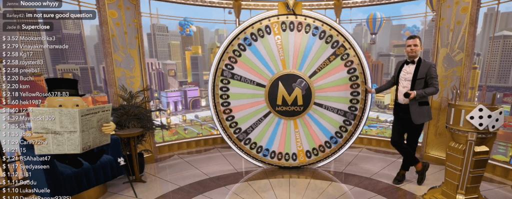 live monopoly gambling