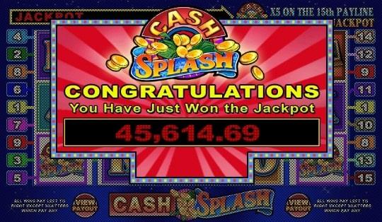 Cash Splash Slot jackpot