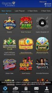 Quatro Casino mobile