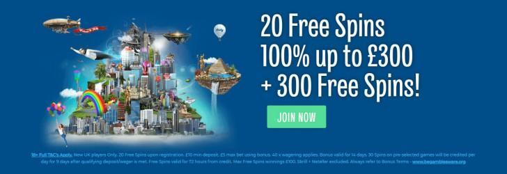 Sloty welcome bonus offer