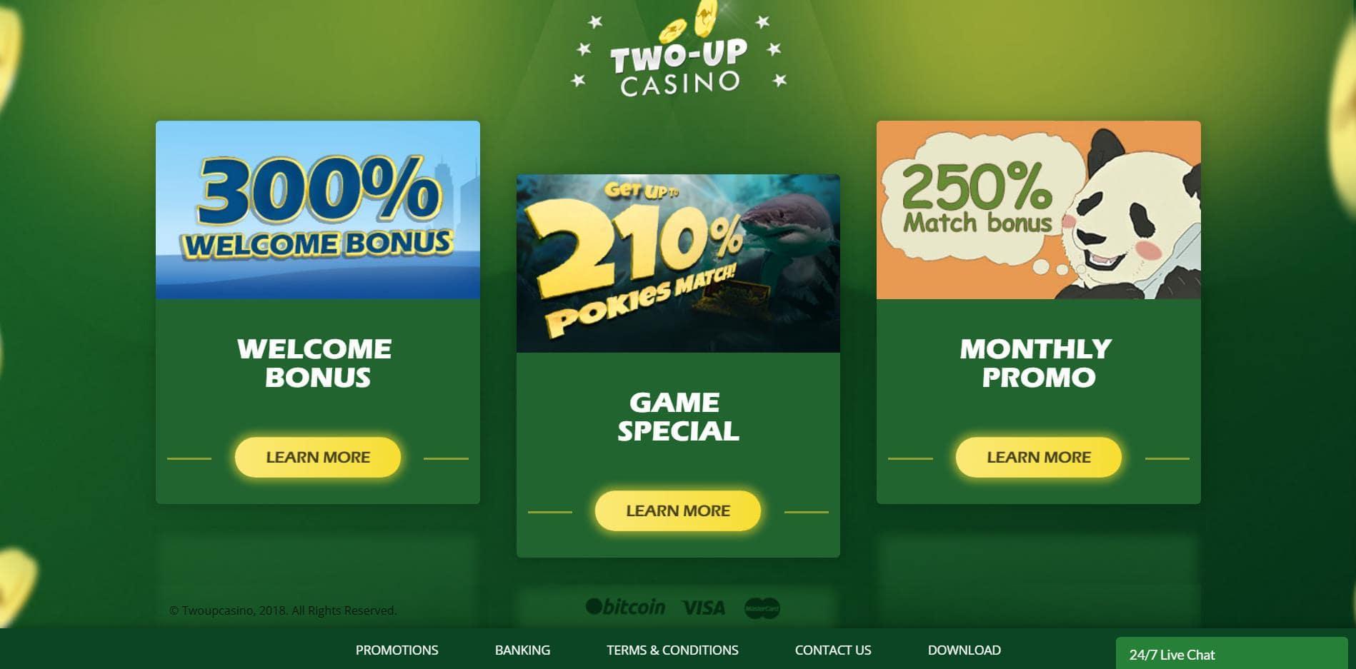 Two-Up Promo bonuses