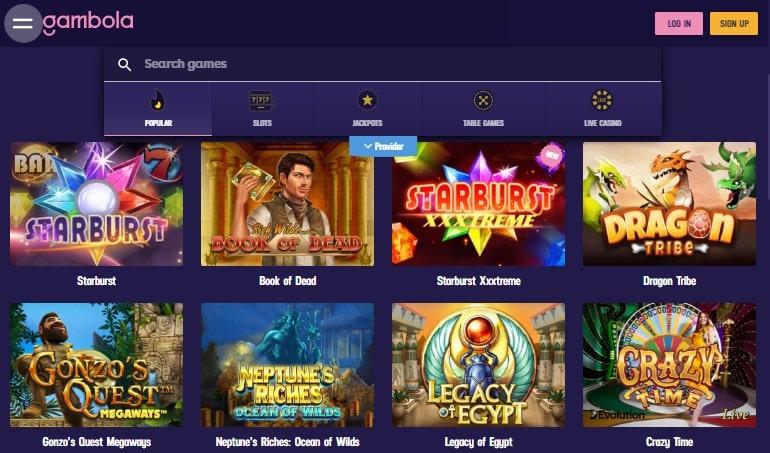 Gambola Casino Games
