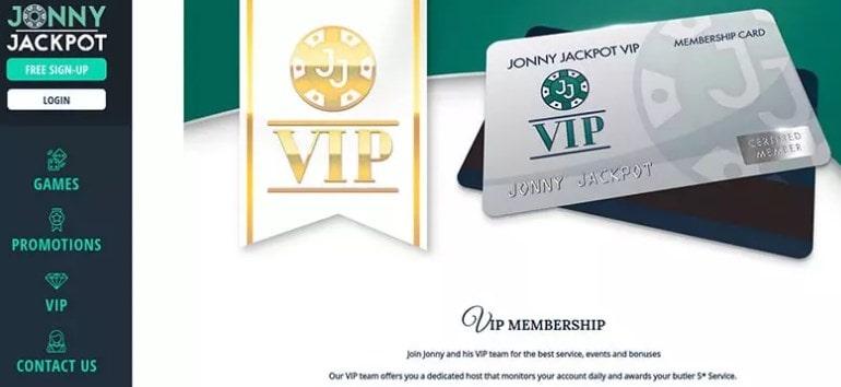 Jonny Jackpot Casino VIP