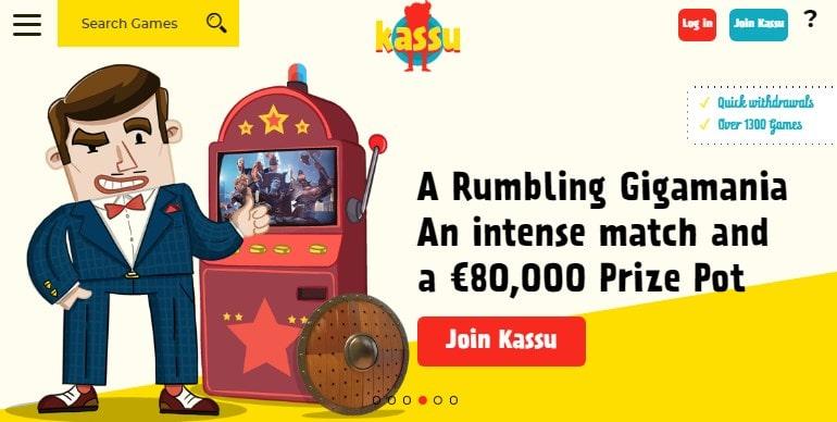 Kassu Casino Homepage